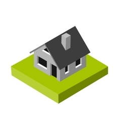 Isometric 3d icon pictograms house vector