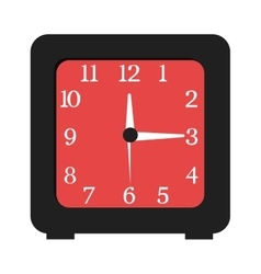 Black and red clock graphic vector