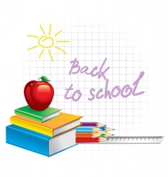 back to school illustration vector image vector image