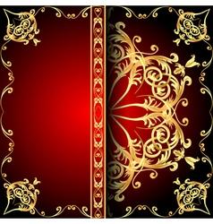 background frame red vector image