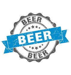 Beer stamp sign seal vector