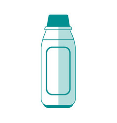 Blank label flask healthcare related icon image vector