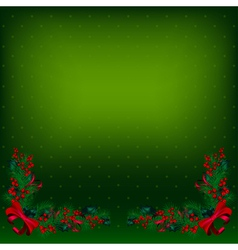 bright green christmas background decorated by fir vector image vector image