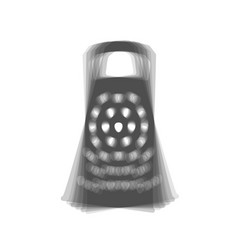 Cheese grater sign gray icon shaked at vector