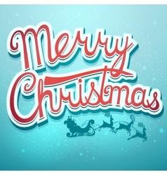 Christmas card with Santa and deer vector image