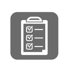 customer service icon with checklist sign vector image
