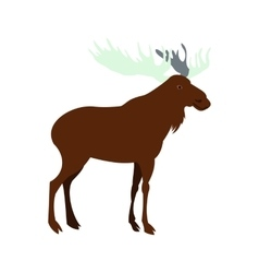 Deer icon flat style vector