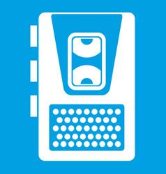 Dictaphone icon white vector