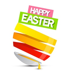 Happy Easter Abstract Egg with Spilt Yolk Is vector image vector image