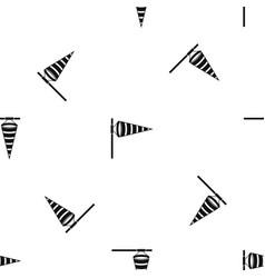 Meteorology windsock inflated by wind pattern vector