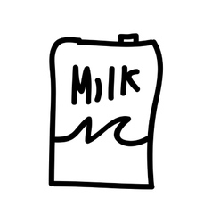 milk box isolated icon design vector image vector image