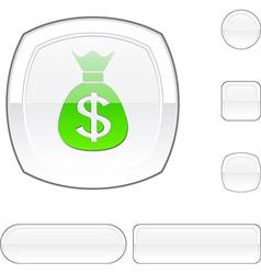Money white button vector