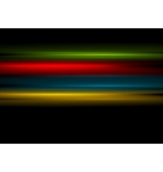 Multicolored stripes on black background vector image