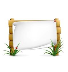 Notice board vector image vector image