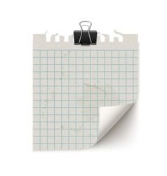 Old fashion sticky notebook paper sheet vector image