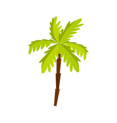 Palm tree icon flat style vector