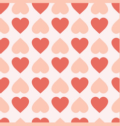 pastel hearts seamless pattern cute valentines day vector image vector image