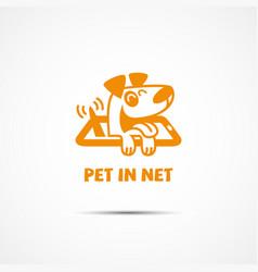 pet in net vector image vector image