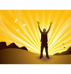praise man vector image vector image