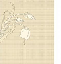 retro flowers on canvas vector image