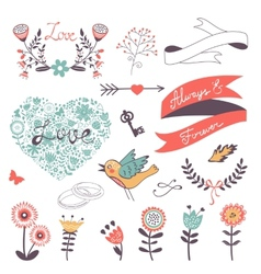 Romantic collection vector