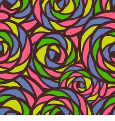 Seamless pattern consists of colorful doodles vector