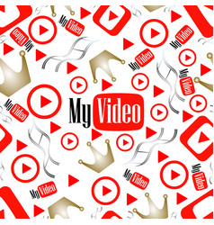 seamless pattern video vector image vector image