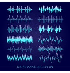 Sound waves collection vector