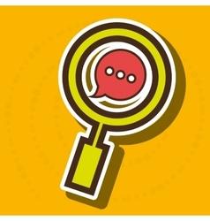 symbol chat speech message vector image