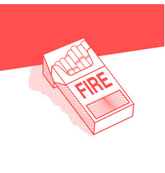 The pack of cigarettes with inscription fire vector