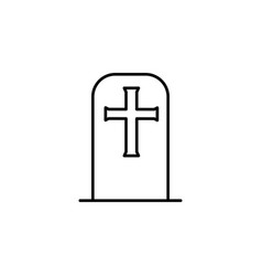 tombstone icon vector image vector image