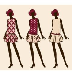 Vintage fashion model vector