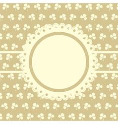 Clover design vintage frame vector