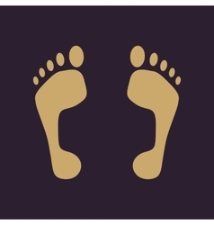 The footprint icon foot symbol flat vector