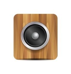 Loudspeaker on wood vector