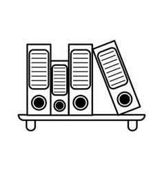 Archive folders office supplies related icon image vector