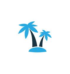 Palms colorful icon symbol premium quality vector