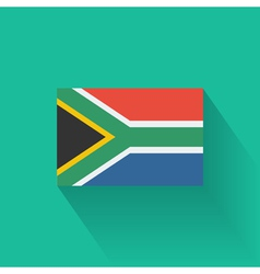 Flat flag of south africa vector