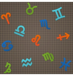 Dark Seamless Texture Signs of The Zodiac vector image