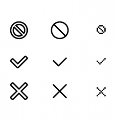 Web validation icons vector