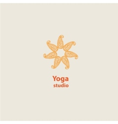 template logo for yoga studios vector image