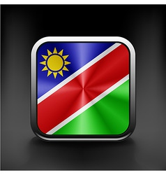 Sovereign state flag of country of namibia in vector