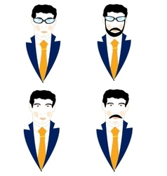 Set of the icons men vector