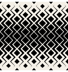 Seamless bw grid chevron halftone pattern vector