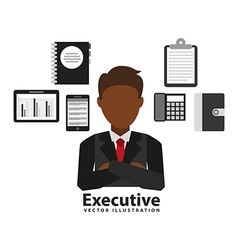 Business executive design vector