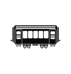 Passenger railway waggon icon vector