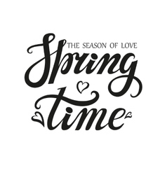 Spring time letteringseason of love vector