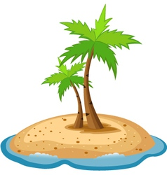 Topical island vector image
