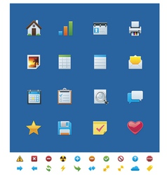 Common website icons for webmasters vector