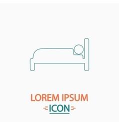 Bed computer symbol vector